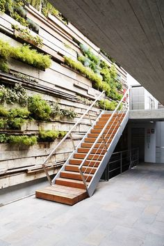 Green Wall / Zentro Office Building and Commercial - Gonzalez Moix Arquitectura Green Architecture, Architecture Details, Landscape Architecture, Landscape Design, Garden Design, House Design, Natural Architecture, Office Building Architecture, Architecture Panel