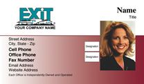 Exit Realty Business Card WP1002. Visit http://www.bestprintbuy.com/exit-realty/exit-realty-business-cards/exit-realty-business-cards-with-photo.htm