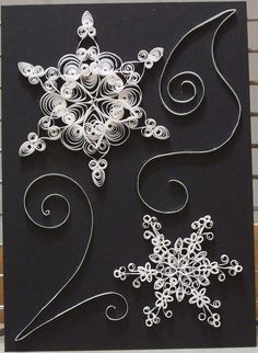 Snowflakes quilled