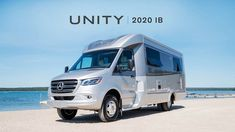 Take a video tour of the Unity Class C RV by Leisure Travel Vans. See photos, videos, floorplans and more of the luxurious Unity, built on the Mercedes Sprinter Cab Chassis. Retro Trailers, Camping Trailers, Leisure Travel Vans, Class C Rv, Rv Living, Campervan, Van Life, Motorhome, See Photo