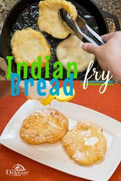 Yummy Indian Fry Bread, served as a sweet dessert or even better with Navajo Tacos. Making this delicious fried bread recipe is quick and easy either in the Instant Pot or on the Stove. Indian Fry Bread Recipe Easy, Native American Fry Bread Recipe, Bread Recipes, Indian Taco Recipes, Mexican Food Recipes, Indian Tacos, Torta Recipe, Mexican Dishes, Kitchens