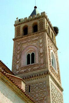 Quinto, Zaragoza, Spain. El Piquete. Torre. Arte mudéjar. Patrimonio de la Humanidad de UNESCO