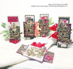Бумажная котовасия: Новогодние скраплинги=)