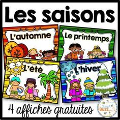 Les saisons - Affiches gratuites - French Seasons Posters by French Buzz