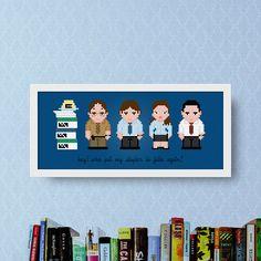 Office Modern Cross Stitch Pattern PDF  TV Show Cross Stitch