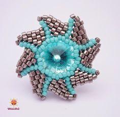 'Mano' gyöngyékszer tervező kézműves ékszerei: Sunrise gyűrű