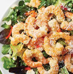 Do you like pina coladas? You've got to try this Shrimp Salad with Pina Colada Vinaigrette. It actually uses pina colada mix and it's delish.
