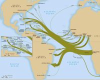 Volume and direction of the transatlantic slave trade from all African to all American regions