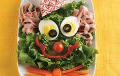 salade clown oeufs jambon carotte