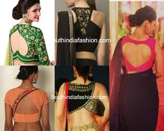 Cut Out Blouse Designs for Designer Sarees – South India Fashion Blouse Designs High Neck, Sari Blouse Designs, Blouse Neck Designs, Blouse Styles, Latest Blouse Patterns, Designer Blouse Patterns, Gala Design, Stylish Blouse Design, South India
