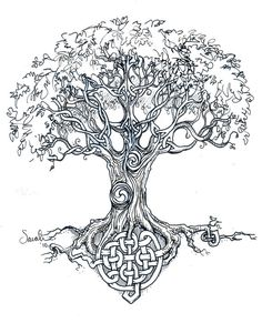 Celtic tree knots - art print or tattoo art. $35.00, via Etsy.