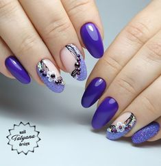 Are you looking the Best & Perfect Nail Art Ideas to get the inspirational look … - Best Trend Nails Pretty Nail Designs, Nail Art Designs, Purple Nail Art, Nagellack Trends, Trendy Nail Art, Pin On, Beautiful Nail Art, Perfect Nails, Long Nails