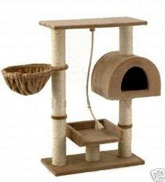 Casa, Area De Juegos Y Afilador De Uñas Para Gatos Mascotas - $ 1,145.00