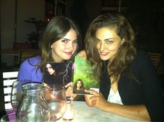 """Shelley Hennig and Phoebe Tonkin (Diana and Faye from """"The Secret Circle)."""