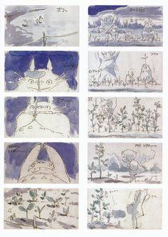 Hayao Miyazaki, Storyboard Examples, Animation Storyboard, Studio Ghibli Art, Ghibli Movies, Girls Anime, My Neighbor Totoro, Illustrations, Art Studios