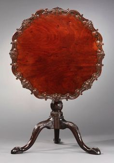 A is for Antiques:  This Mahogany and cherry Chippendale style tea table c.1750, was owned by Robert Carter of Virginia, and attributed to furniture maker Robert Walker.