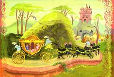 """From """"Cinderella""""  which uses pre-production art by Mary Blair from Disney Publishing"""