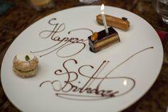 My sister's special birthday plate. Birthday Desserts, Fancy Desserts, Homemade Chocolate, Chocolate Desserts, Fancy Food Presentation, Food Plating Techniques, Dessert Platter, Food Menu Design, Birthday Plate