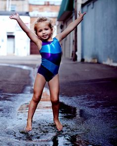 Another cute gymnastics or dance leotard. Multiple colors. From etsy