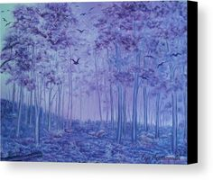Lavender Woods Wood Print by Faye Anastasopoulou. All wood prints are professionally printed, packaged, and shipped within 3 - 4 business days and delivered ready-to-hang on your wall. Wood Canvas, Canvas Art, Wall Art Prints, Canvas Prints, Fine Art Posters, Thing 1, Art For Sale Online, Artwork Images, Realism Art