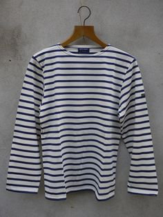 Minquiers Breton Shirt Cream Navy by Saint James Breton Shirt, Breton Top, Saint James, I Love Fashion, Style Me, Menswear, Fashion Outfits, Casual, Cream