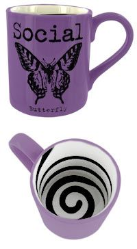 "Social Butterfly Mug.....has ""brittany G.""written all over it....would look good on the butterfly handle mug"