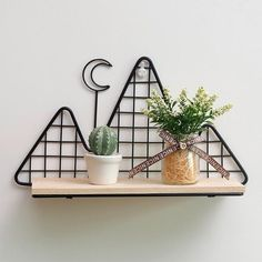 NORDIC MOUNTAIN SHELF Nordic style minimalist wall shelf in shape of mountains with a moon.Add a note of style to a boring wall with this unique shelf organizer. Wall Storage Shelves, Metal Shelves, Shelf Wall, Storage Rack, Unique Shelves, Modern Shelving, Mountain Shelf, Diy Kitchen Decor, Home Decor