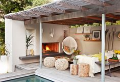 Rustic Modern Outdoor Living Area