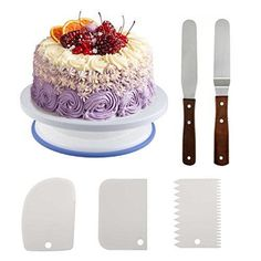 Cake Decorating Set Gift Kit Tools Baking Supplies TURNTABLE SET Spatula Stand #Homga