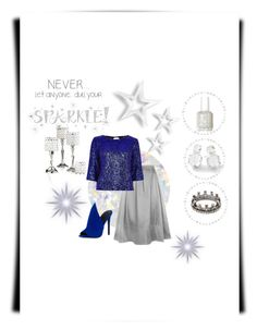 """""""Blue Sparkle"""" by miracle-child-1 on Polyvore featuring Essie, HotSquash, River Island, Kendall + Kylie, Ippolita, Loree Rodkin, Wall Pops! and Leeber Limited"""