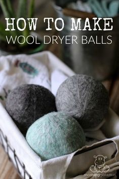 Production of wool dryer balls – they reduce the drying time, soften clothes without chemicals and save money. And they are super easy to do. Here is a step-by-step photo tutorial. Source by mommypotamus Deep Cleaning Tips, House Cleaning Tips, Natural Cleaning Products, Cleaning Solutions, Spring Cleaning, Cleaning Hacks, Diy Hacks, Cleaning Recipes, Green Cleaning