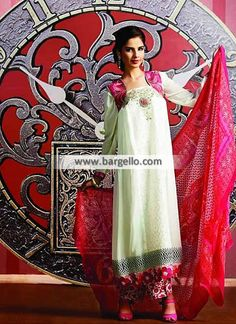 Gorgeous Banarasi Chiffon Dress for Daily Wear Sydney Australia Tawakkal Fabrics Pearl Collection  UK USA Canada Australia Saudi Arabaia Japan Bahrain Kuwait Norway Sweden New Zealand Heavy Embroidered Pishwas in Chiffon for all Formal Events Product code: WL6977 Original Price: $210.95 Our Price: $190.95 You save: $20.00 (9%)