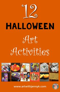 12 Halloween art activities for classroom teachers and art teachers alike.