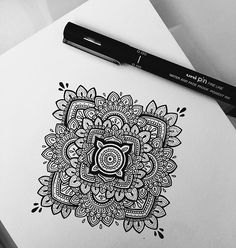 Day 1  6th June. #mandala 4.5 inch. Done by UniPin 0.05mm on @winsorandnewton water colour 300gsm paper. #murderandrose // #art  SOLD @mahektoosy // Email murderandrose@gmail.com or DM me if interested in purchasing this piece.