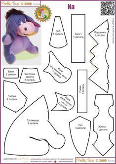 DIY Eeyore Stuffed Animal - FREE Sewing Pattern / Template