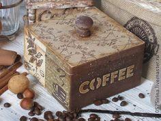 """"""" Coffee..."""" Короб. - бежевый,кофе,короб,короб для хранения,короб для кухни"""