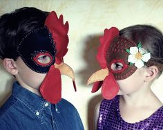 Hen and Rooster Mask PDF Pattern by oxeyedaisey on Etsy, $5.00