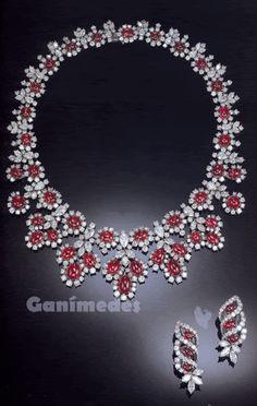 Harry Winston~Rubies & Diamonds necklace and earrings