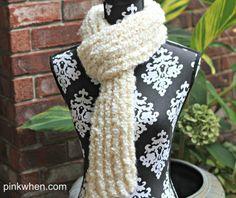 DIY Crochet Scarf using a loom!