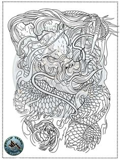 Dragon Tattoo Art, Lion Tattoo, Chest Tattoo Drawings, Japanese Back Tattoo, Trash Polka Tattoo, Desenho Tattoo, Oriental, Back Tattoos, Tattoo Designs