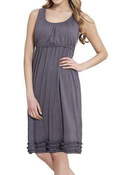 Ruffle Pregnancy & Nursing Dress