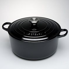 love le creuset...lucky enough to have one, but i wouldn't say no to this one (or any) in black....beautiful.