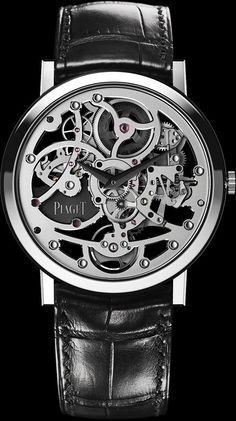 Piaget White gold Ultra-thin skeleton Watch