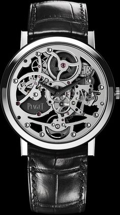 Piaget White gold Ultra-thin skeleton Watch