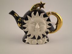 Tony Carter sun and stars teapot.