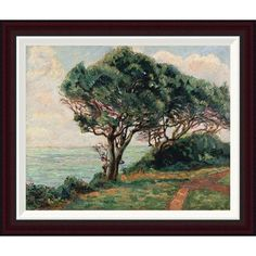 Global Gallery La Pointe De La Pierriere, St. Palais by Armand Guillaumin Framed Painting Print Size: