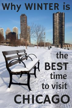 Winter is one of the best times to visit Chicago - accommodation costs are lower and attractions are less crowded. Top things to do in Chicago in winter. Visit Chicago, Chicago Travel, Chicago Trip, Chicago Illinois, Chicago Marathon, John Hancock, Canada Travel, Travel Usa, Travel Guide