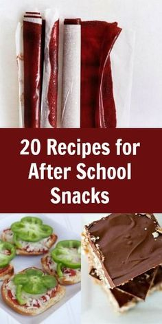 20 After School Snacks for Kids