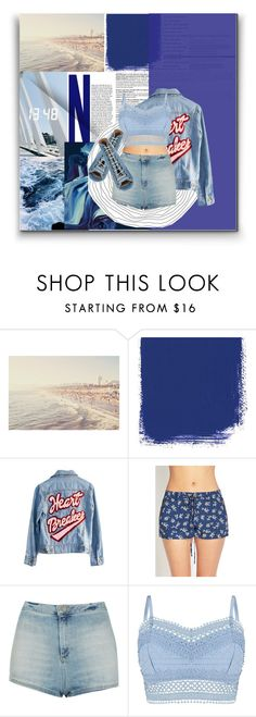 """""""B L U E"""" by byjjbh ❤ liked on Polyvore featuring High Heels Suicide, Forever 21, Topshop, Lipsy and Barbara Bui"""