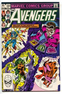Avengers 235 Marvel 1983 NM Captain America She-Hulk Spider-Man Scarlet Witch